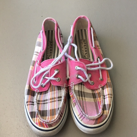 Sperry Shoes   Pink Plaid Sperry